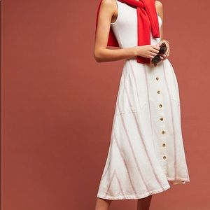 Walsh Button Front Midi Skirt